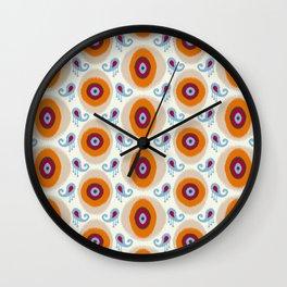 Ikat Medallion Wall Clock