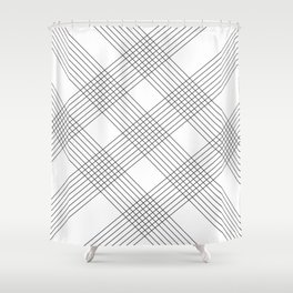 Crossing lines Shower Curtain