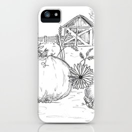 Harvest Sketch iPhone Case