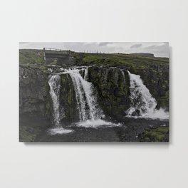 Kirkjufellsfoss Waterfall Upper Fall Metal Print