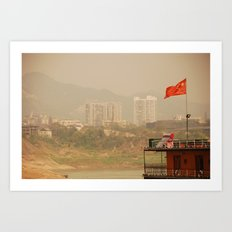 under the red flag  Art Print