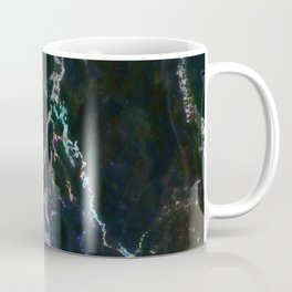 Black Marble Colorful Accent Coffee Mug