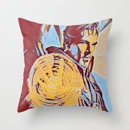 Dr Strange Magic Artistic Illustration Complementary Colors Style Throw Pillow