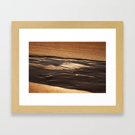 on golden sands Framed Art Print