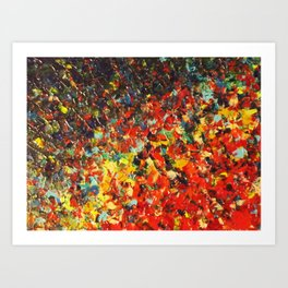 END OF THE RAINBOW - Bold Multicolor Abstract Colorful Nature Inspired Sunrise Sunset Ocean Theme Art Print