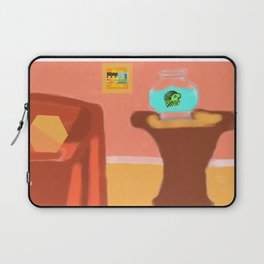 Fish and Living Room Scene Laptop Sleeve