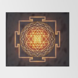 Sri Yantra XI Throw Blanket