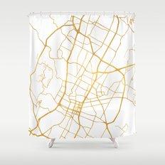 AUSTIN TEXAS CITY STREET MAP ART Shower Curtain
