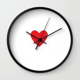 Run Your Heart Out Running Workout T-Shirt Wall Clock