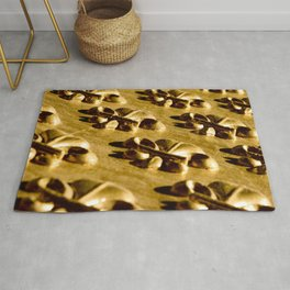Parisian Gold Fluer De Lis Embossed Design Rug