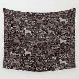 Rottweiler  - Metzgerhund Pattern Wall Tapestry