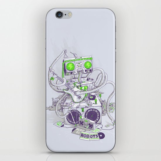 Hippy robot iPhone & iPod Skin