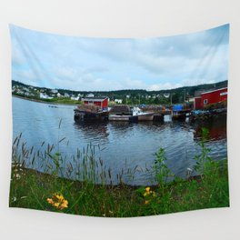 Fisherman's Wharf in Cape Breton Wall Tapestry