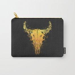 Dark Desert Cow Skull Carry-All Pouch