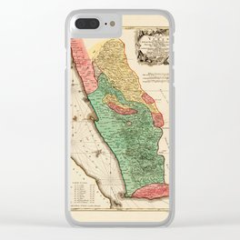 Map Of Yemen 1774 Clear iPhone Case