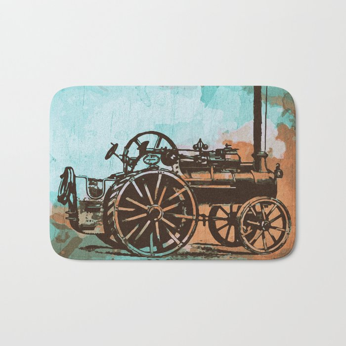 Old Machine Bath Mat