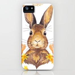 Autumn Rabbit iPhone Case