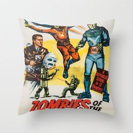 Vintage poster - Zombies of the Stratosphere Throw Pillow
