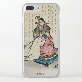 Korean Bride 1952 Clear iPhone Case