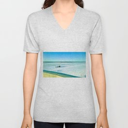 The beauty of the snow and cold. Unisex V-Neck