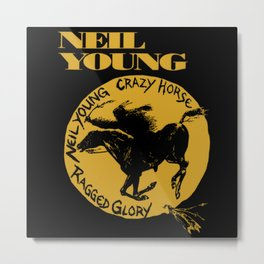neil young crazy horse glory Metal Print