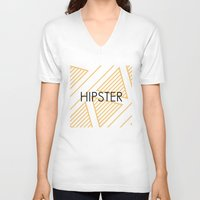 hipster V-neck T-shirts featuring Hipster by Mr & Mrs Quirynen