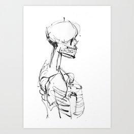 INK SKELETON Art Print