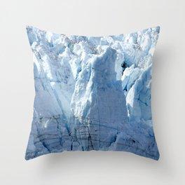 Alaska's Glacier Bay With Massive Blue Ice 'Mountains' Throw Pillow