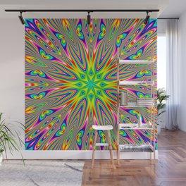 Psychedelic Rainbow Kaleidoscope Wall Mural