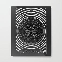 Wheel of Fortune Tarot Card Metal Print
