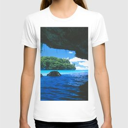 Exotic Palau Islands: View From Treacherous Ocean Cave T-shirt