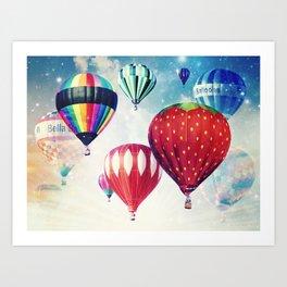 Dreaming of Hot Air Balloons Art Print
