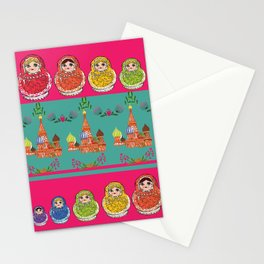 Russian Rainbow Matryoshka Stationery Cards