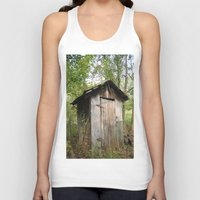 outdoor Tank Tops featuring Outdoor toilet by jim snyders photography