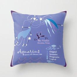 Aquarius February Throw Pillow
