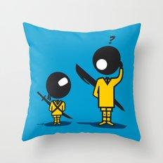 Bic Ninja Throw Pillow