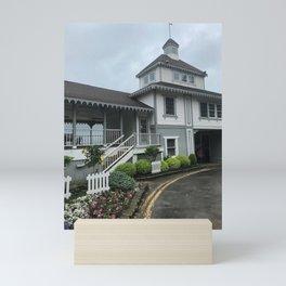 """Lakeside Chautauqua Pool House"" Photography by Willowcatdesigns Mini Art Print"