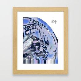 Mystic fall-ing Framed Art Print