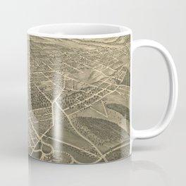 Vintage Pictorial Map of Winston-Salem NC (1891) Coffee Mug