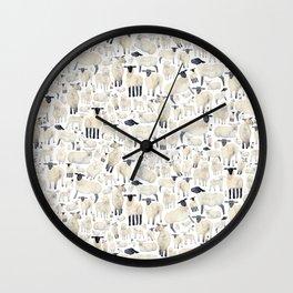 Watercolour Sheep Wall Clock