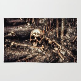 Bones In The Forest Rug