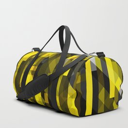 abstract composition in yellow and grays Duffle Bag