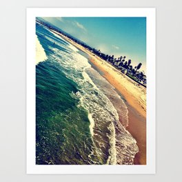 Ocean Beach, San Diego Art Print