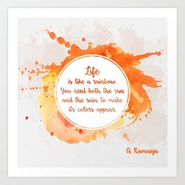 A. Ramaiya's quote Art Print
