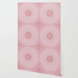 Boho Chic Glittery Pink Pastel Mandala Wallpaper