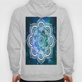 Mandala : Blue Green Galaxy Hoody