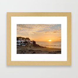 Sunset on the Costa Vicentina, Portugal Framed Art Print