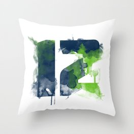 12th man Throw Pillow