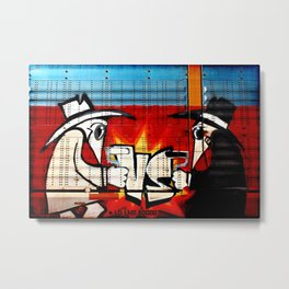 Spy vs Spy Metal Print