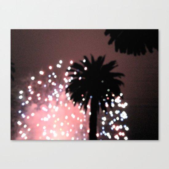 Fireworks over Santa Barbara Canvas Print